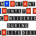 6 Important Points to be Considered During Web Page Design